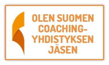 Suomen Coaching-yhdistyksen jäsenbanneri.